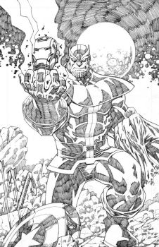 Thanos Beats The Avengers by pipin
