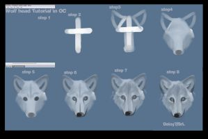 Wolf head tutorial by daisy7