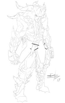 OC character Lineart by seanbianchi