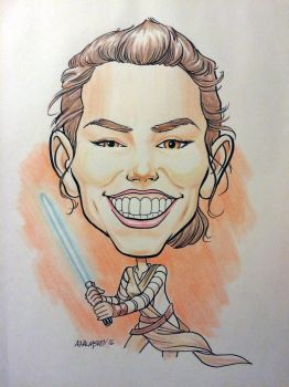 Rey caricature by Walmsley