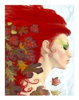 Fall of the Leaf-giclee by StudioSmugbug
