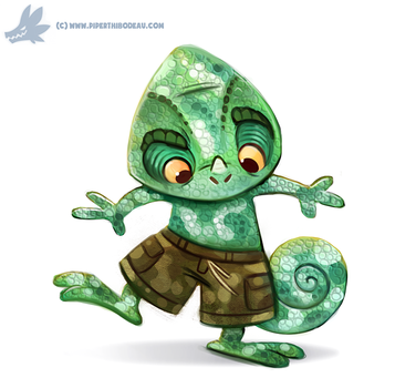 Daily Paint #1167. Camo-meleon by Cryptid-Creations