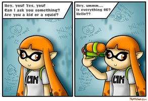 Are you a kid or a squid?? by BoxBird