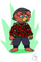 Ugly Sweater Contest: Aldor and his Floweater by ChicoryBlast