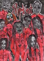 Slipknot members,(red suit) by captain-usoppfan