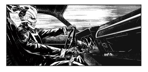 Ghost Rider panel commission by Shrptooth