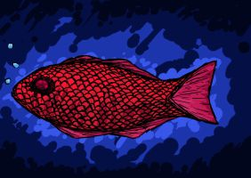 Red Fish by Blackdogti