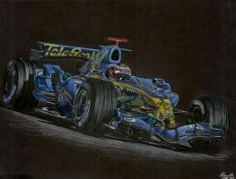 Fernando Alonso Renault by the-frozen-bunny