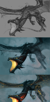 Dragon Rider - process by chirun