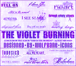 Violet Burning Text Brushes by jordannamorgan