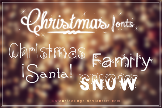 Christmas Fonts by JustOurFeelings