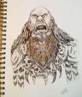 barbarian chieftain by TheWolfMaria