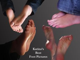 Collage of my best foot pictures (in your opinion) by KarinaDreamer