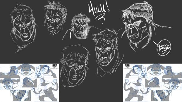 Hulk's expressions by 122476