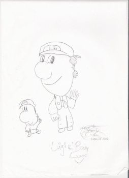 Baby Luigi And Young Luigi by MarioBabies-FanClub