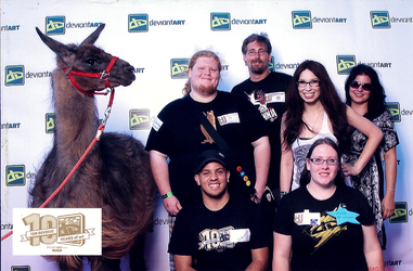 Red Carpet MN Team with Llama by lenavvargo