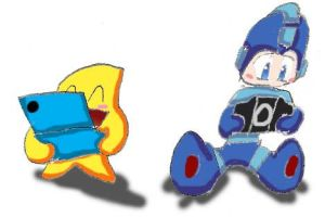 Starfy and Megaman by Superjustinbros