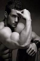 Bulging Muscles in BW by BigBergMan