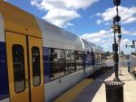 River Line Light Rail at Riverside by TheMightyQuinn