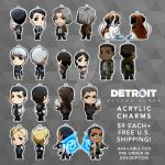 Detroit: Become Human CHARMS (PRE-ORDER IN DESCR) by Smudgeandfrank