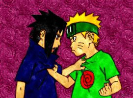 Kid naruto and sasuke by BrandyKoopa92