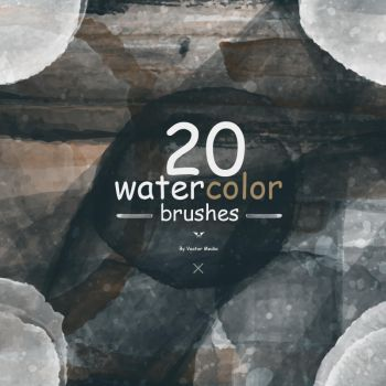 [20 Free] Watercolor Brushes - By Vector Media by VectorMediaGR