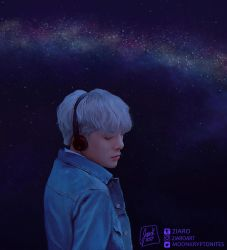 Minhyuk: Night sky by Z1aR0