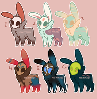 Cute Adopts -- CLOSED by FinnPython