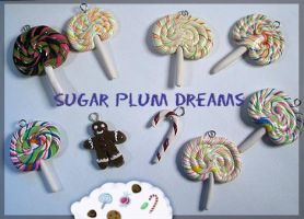 Sugar Plum Dreams Charms by chat-noir