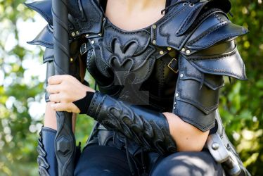 leather armor close up by Lagueuse