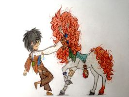 Michael and Evergreen by PlasmaDragonite