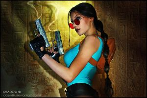 Lara Croft Tomb cosplay portrait by Daelyth