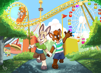 The amusement park by pandapaco