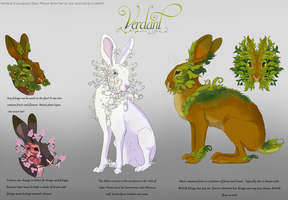 Fursona Verdant Reference by The-Hare