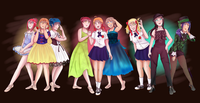 Aqours x Childhood Dance Recitals by TheApatheticKat