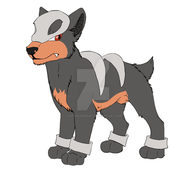 Houndour by AuroraVeredalia