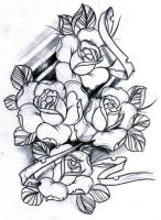 sketch roses by WillemXSM