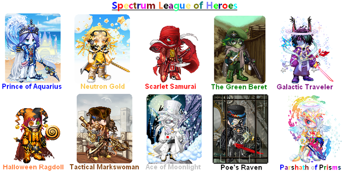 Spectrum League of Heroes by Galactic-Travailler
