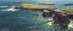 Rugged Coast by 3DLandscapeArtist