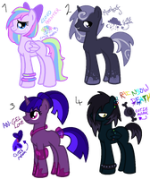 Offer To Adopt MLP Ponies (Points) by MonkFishyAdopts