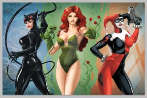 Gotham Sirens by Dan-the-artguy