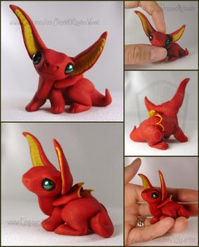 FOR SALE ~ Flayme Red Dragon Hatchling Sculpture by LiHy
