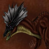 Fiero the Red Dragon by dizturbed