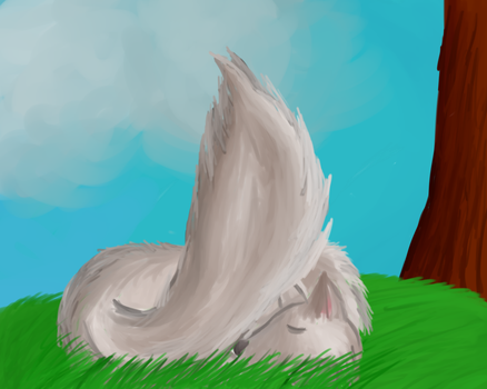 Wolf at Rest by Kuejena