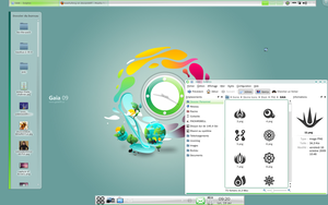 test on kde 4.4 gaia theme by washufeng