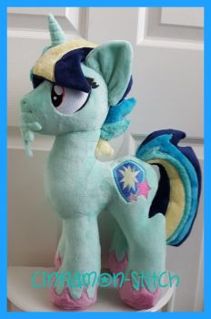 mlp plushie commission OC NOVA by CINNAMON-STITCH