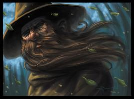 Wizard in the Forest digipaint by RayDillon