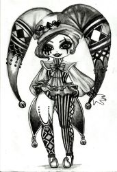 The Obsidian Night Circus - The Clown by SuperPandaApocalypse