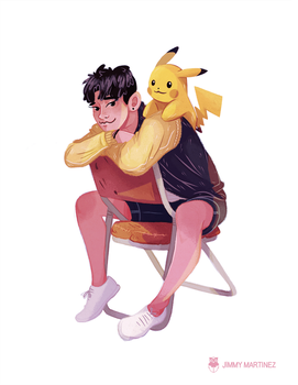 Pikachu and Chen by Jimmy-ilustra
