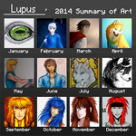 2014 Art Summary by AnimaLupusSolitarius